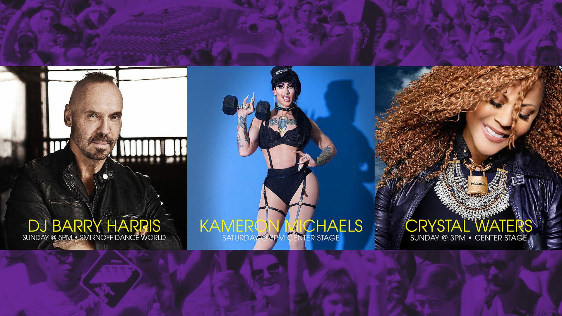 Crystal Waters, DJ Barry Harris, & Kameron Michaels Coming