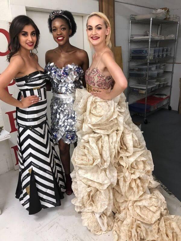Trash Fashion Show - Three Dresses