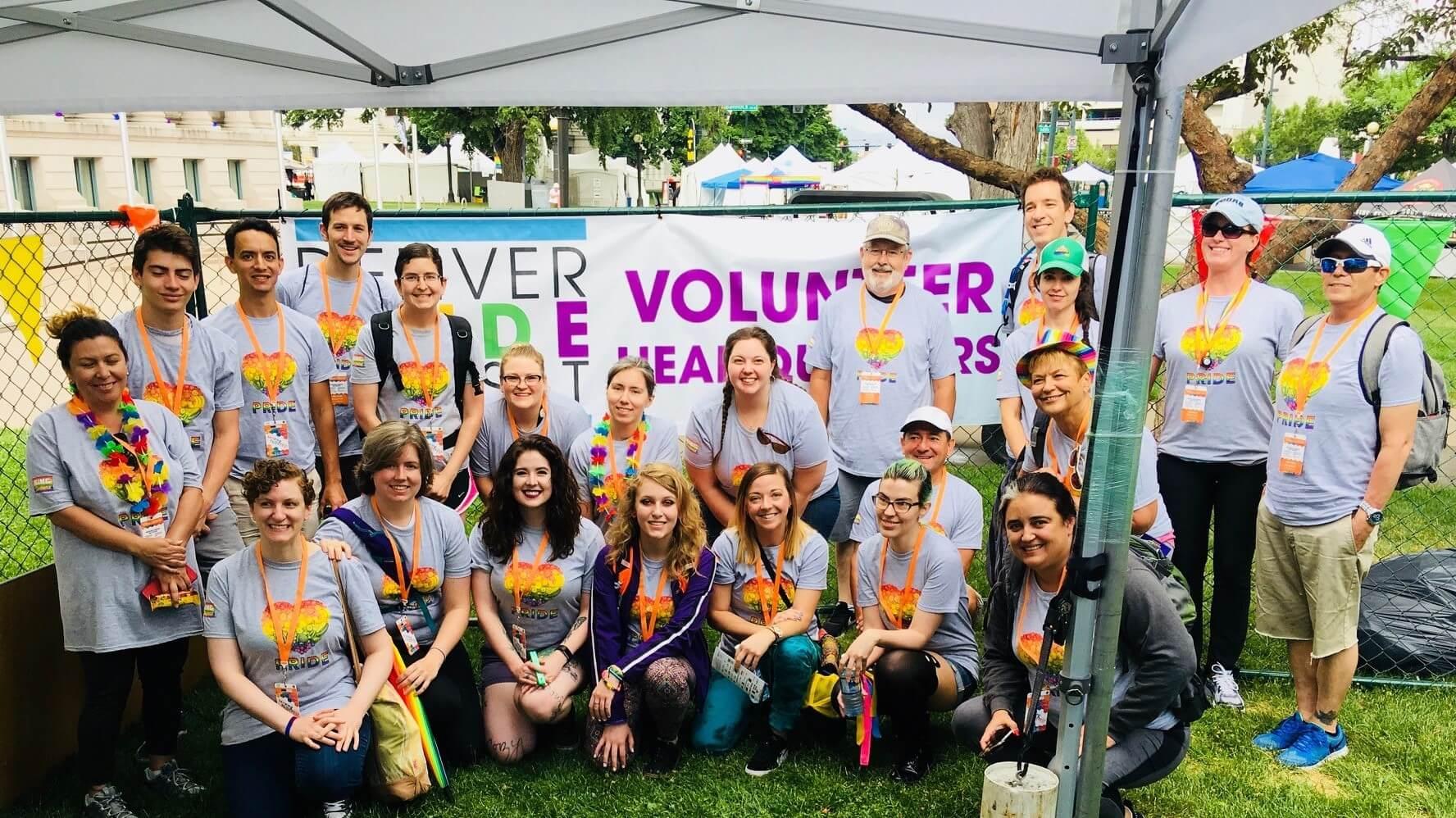 Volunteers at Denver PrideFest