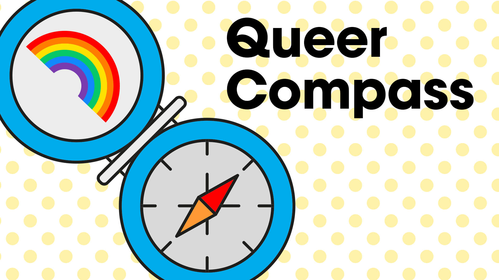 Rainbow Alley Queer Compass