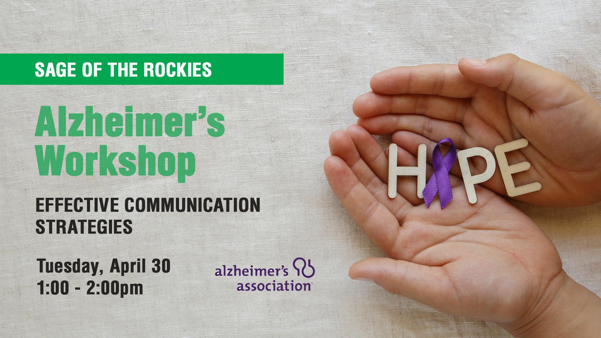 Alzheimer's Workshop: Effective Communication Strategies